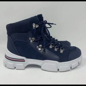 Tommy Hilfiger Womens Combat Boots Size 10 TWNESSE